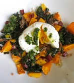 Chicken, Mushroom, Butternut Squash & Rainbow Chard w/Poached Egg